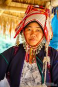 Travel photography:Akha woman at the Ban Lorcha village, Thailand