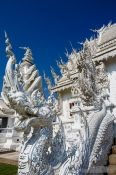 Travel photography:Dragon sculpture at the Chiang Rai Silver Temple, Thailand