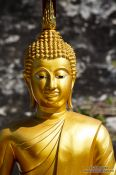 Travel photography:Golden Buddha at Wat Chedi Luang Worawihan in Chiang Mai, Thailand