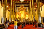 Travel photography:Inside Wat Chedi Luang Worawihan in Chiang Mai, Thailand