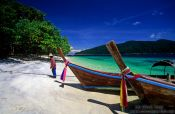 Longtail boats on Ko Rawi, Thailand