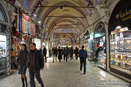 Shoppers in the Grand Basar in Istanbul