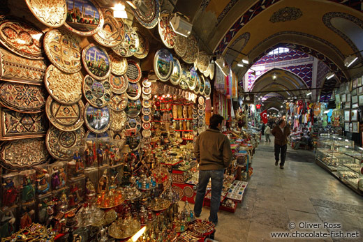 Shop in the Grand Basar in Istanbul