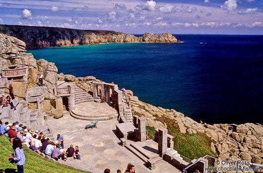 Scenic Amphitheatre near Land`s End in Cornwall