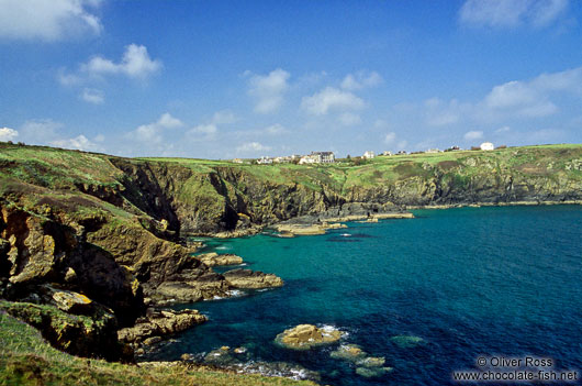 Coastline near Lizard in Cornwall