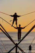 Trampoline jumping in Brighton, United Kingdom England