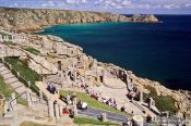 Scenic Amphitheatre near Land`s End in Cornwall, United Kingdom England
