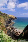 Travel photography:Coastline near Lizard in Cornwall, United Kingdom