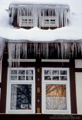 Icicles out side a window, Germany