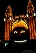 Travel photography:Luna Park entrance at night, Australia
