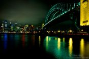Travel photography:Sydney harbour bridge and city, Australia