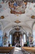 Travel photography:Baroque interior of the St. Gallus church in Bregenz, Austria