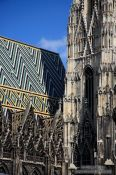 Travel photography:Stephansdom cathedral detail, Austria