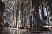 Travel photography:Inside Stephansdom cathedral, Austria