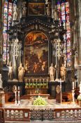 Travel photography:Main altar inside Stephansdom cathedral, Austria