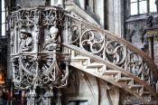Travel photography:Stone pulpit inside Stephansdom cathedral, Austria