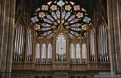Travel photography:Organ inside Vienna´s Votivkirche, Austria