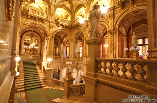Staircase inside the Vienna State Opera