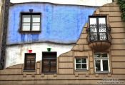 Travel photography:Vienna Hundertwasser house , Austria