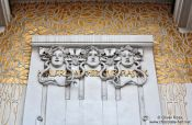 Travel photography:Vienna Secession facade detail , Austria