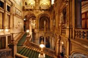 Travel photography:Staircase inside the Vienna State Opera, Austria
