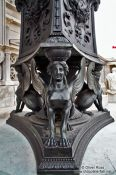 Travel photography:Detail outside the parliament building in Vienna, Austria
