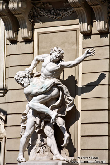 Sculpture of Heracles with Antaeus in Vienna´s Hofburg