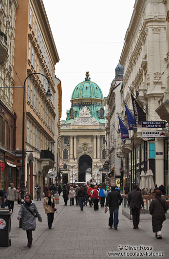 Entrance to the Vienna Hofburg from the city centre