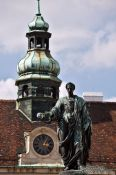Travel photography:The Amalienburg with astronomical clock, Austria