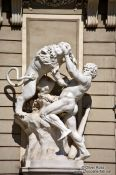 Travel photography:Sculpture of heracles fighting the Nemean Lion in  in Vienna´s Hofburg , Austria