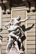 Travel photography:Sculpture of Heracles with Antaeus in Vienna´s Hofburg , Austria