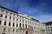 Travel photography:Vienna Hofburg northwing facade , Austria