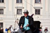 Travel photography:Fiaker driver in Vienna´s Hofburg, Austria