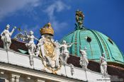 Travel photography:Vienna Hofburg roof detail , Austria