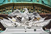 Travel photography:Vienna Hofburg imperial eagle, Austria