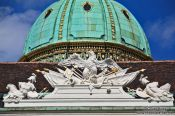 Travel photography:Vienna Hofburg imperial eagle and cupola, Austria