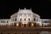 Travel photography:Vienna´s Burgtheater by night, Austria