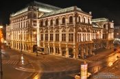 Travel photography:The Vienna State Opera by night, Austria
