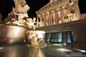 Travel photography:The Pallas-Athene fountain outside the Austrian parliament in Vienna, Austria