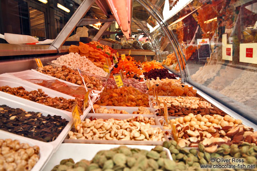 Vienna Naschmarkt nuts and dried fruit