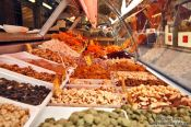 Travel photography:Vienna Naschmarkt nuts and dried fruit , Austria