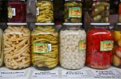 Travel photography:Vienna Naschmarkt pickled vegetables , Austria