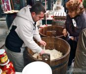 Travel photography:Selling Sauerkraut at Vienna´s Naschmarkt , Austria