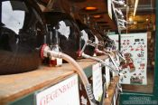 Travel photography:Vinegar flasks at the Vienna Naschmarkt, Austria