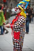 Travel photography:Vienna Street clown , Austria