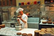 Travel photography:Making the famous Sachertorte at the Demel café house in Vienna, Austria