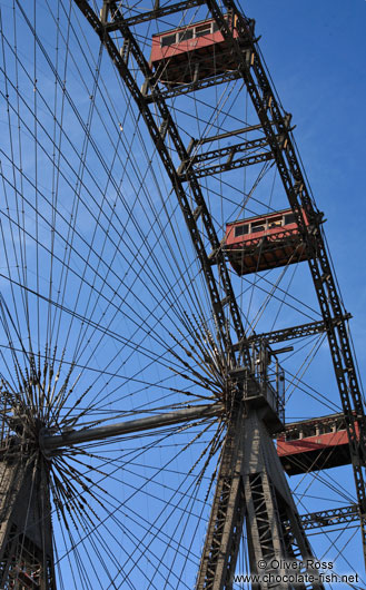 Detail of the old iron ferris wheel from 1897 at Vienna´s Prater