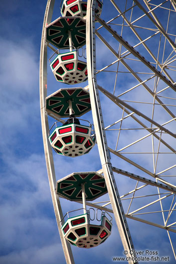 Gondolas of the new ferris wheel at Vienna´s  Prater