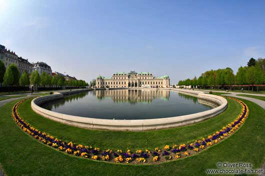 Belvedere palace with gardens and lake