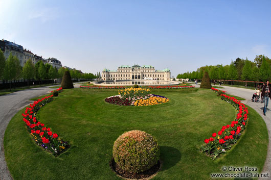 Belvedere palace with gardens